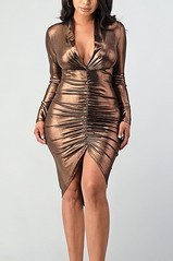 Bronze Vixen Midi Dress