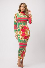 Designer Vibes Printed Maxi Dress