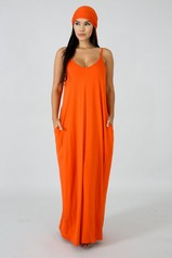 Orange Harem Maxi Dress