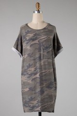 Camo Pocket Knit Dress
